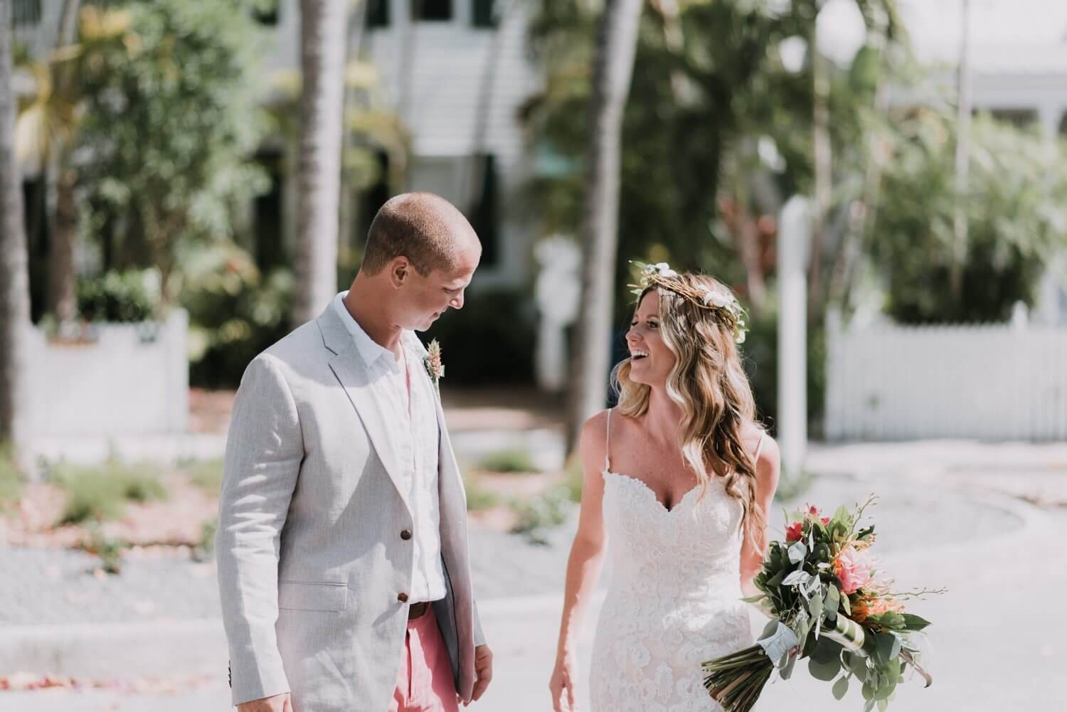 first look key west wedding photographer