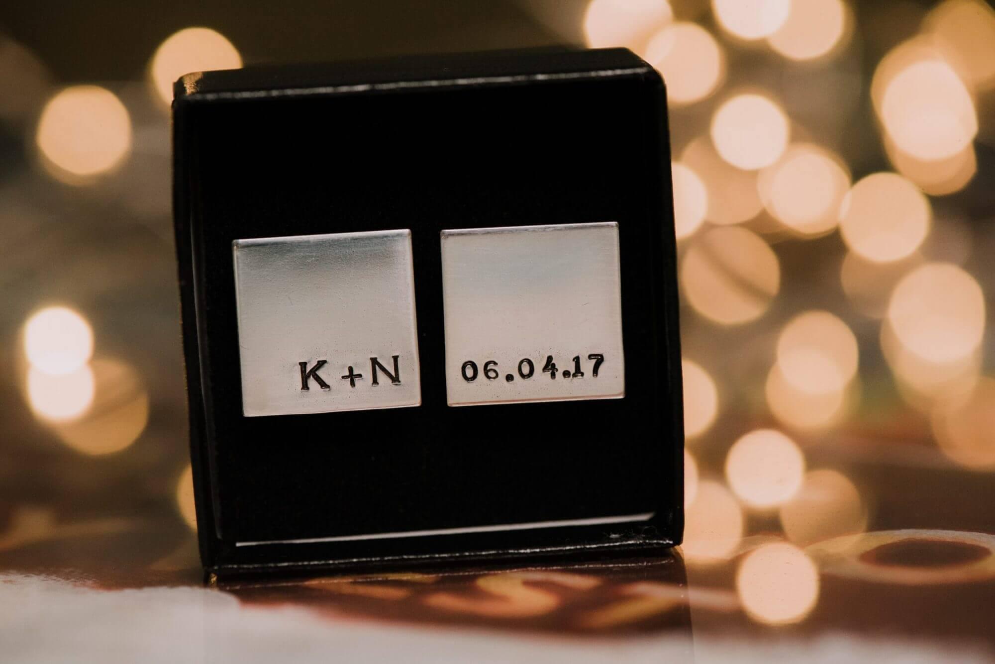Key West wedding photography cufflinks