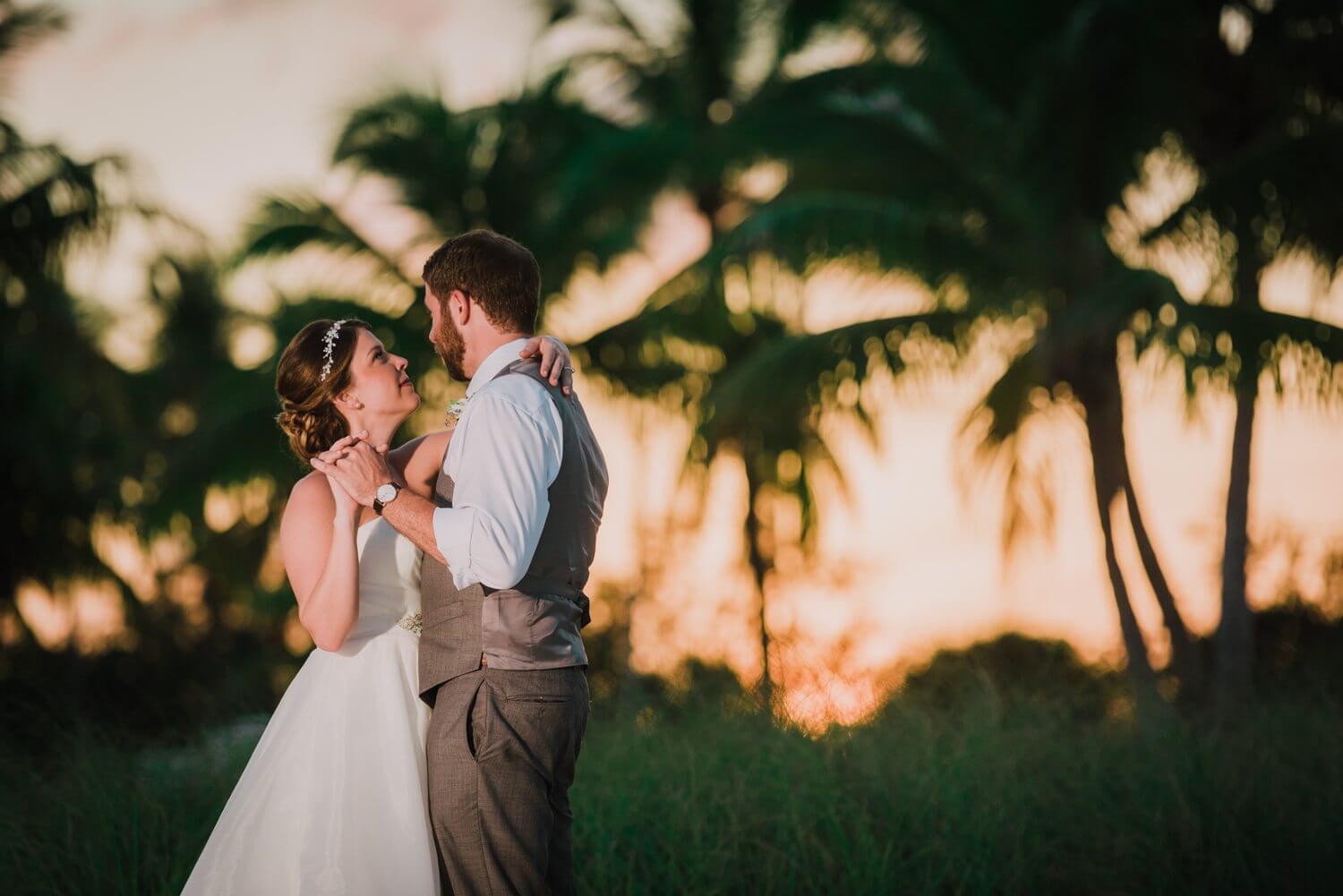 key west wedding sunset photos