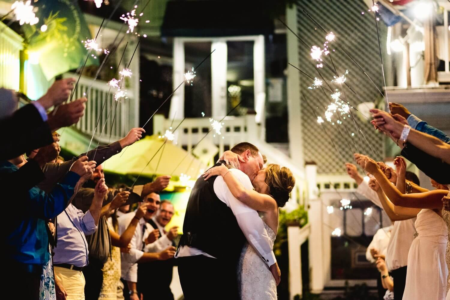 key west wedding sparkler exit