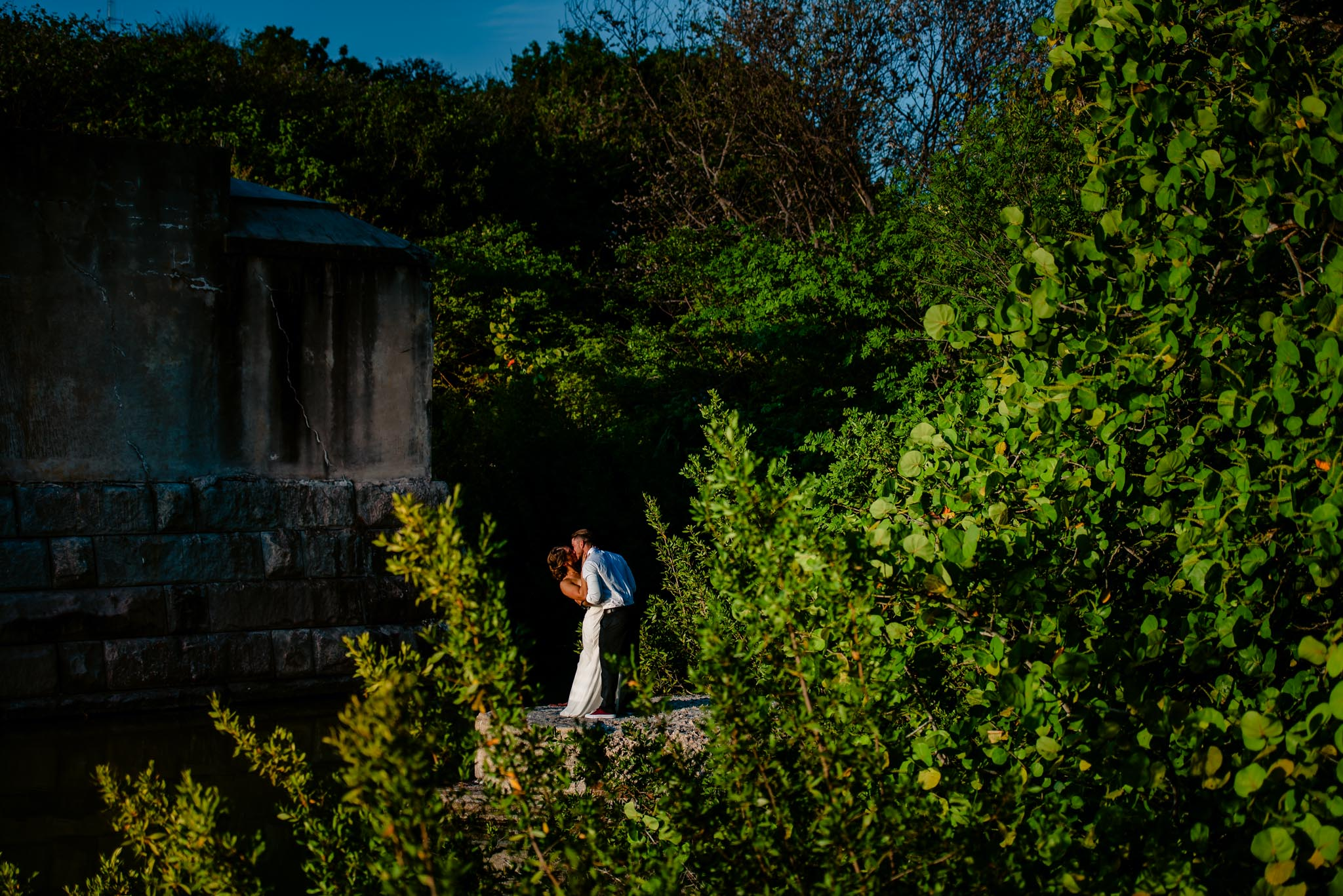 Engagement photoshoot at dusk in the Asheville mountains