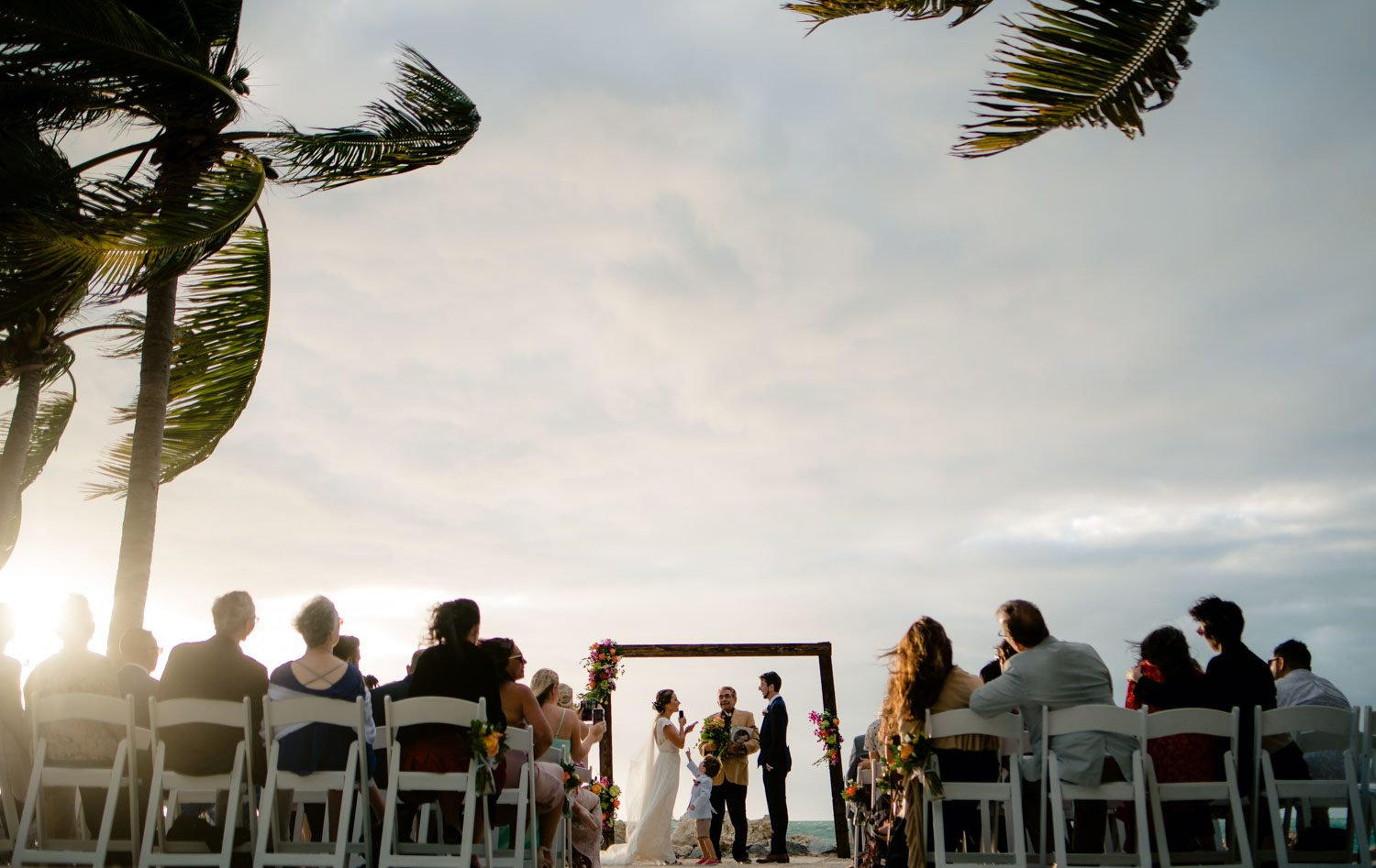 Outdoor Key West Wedding During Sunset In Florida