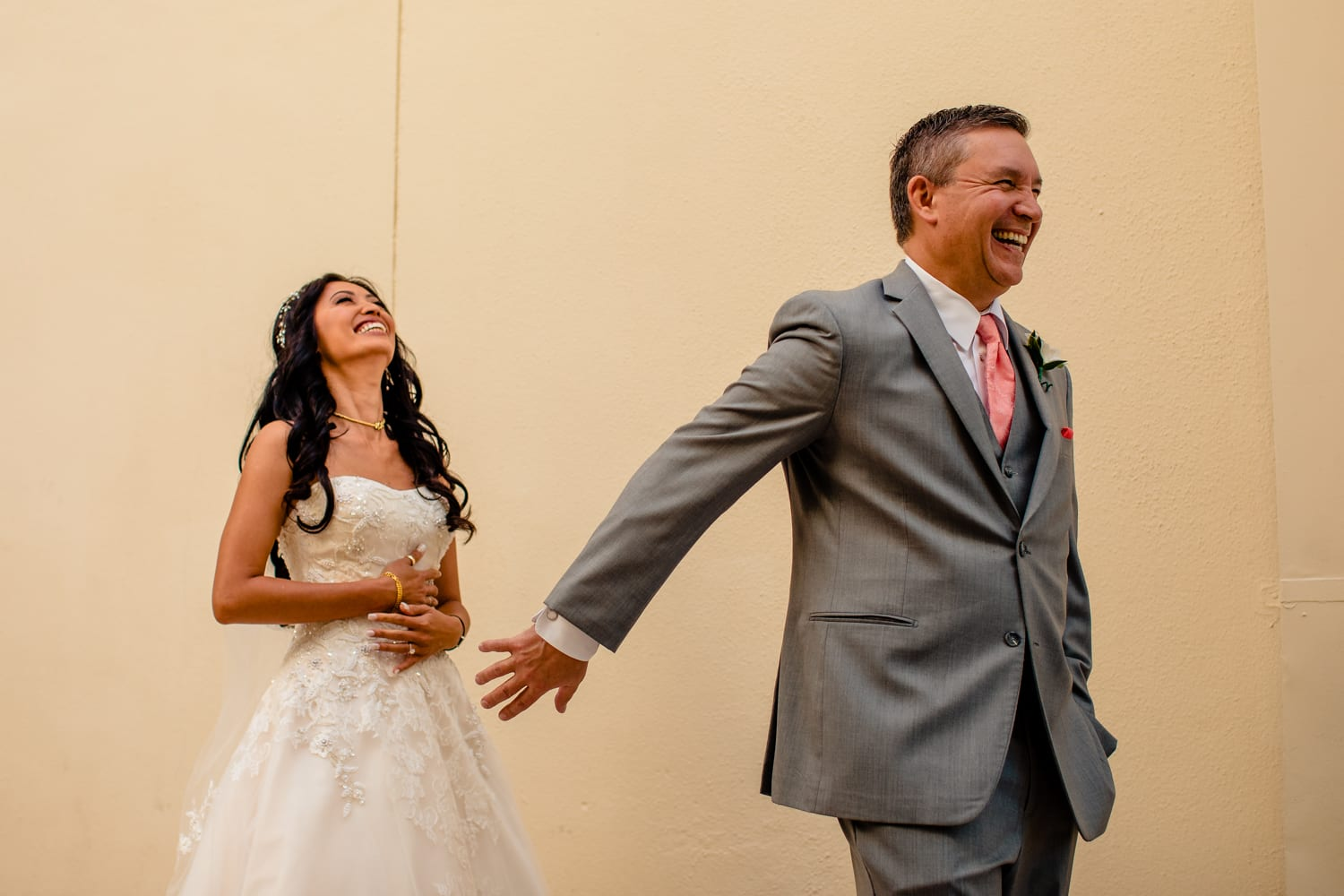 Couple Act Playfully Post Wedding Ceremony