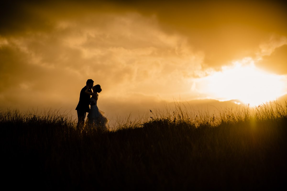 Sunset Post Wedding Session At Max Patch In Asheville, North Carolina
