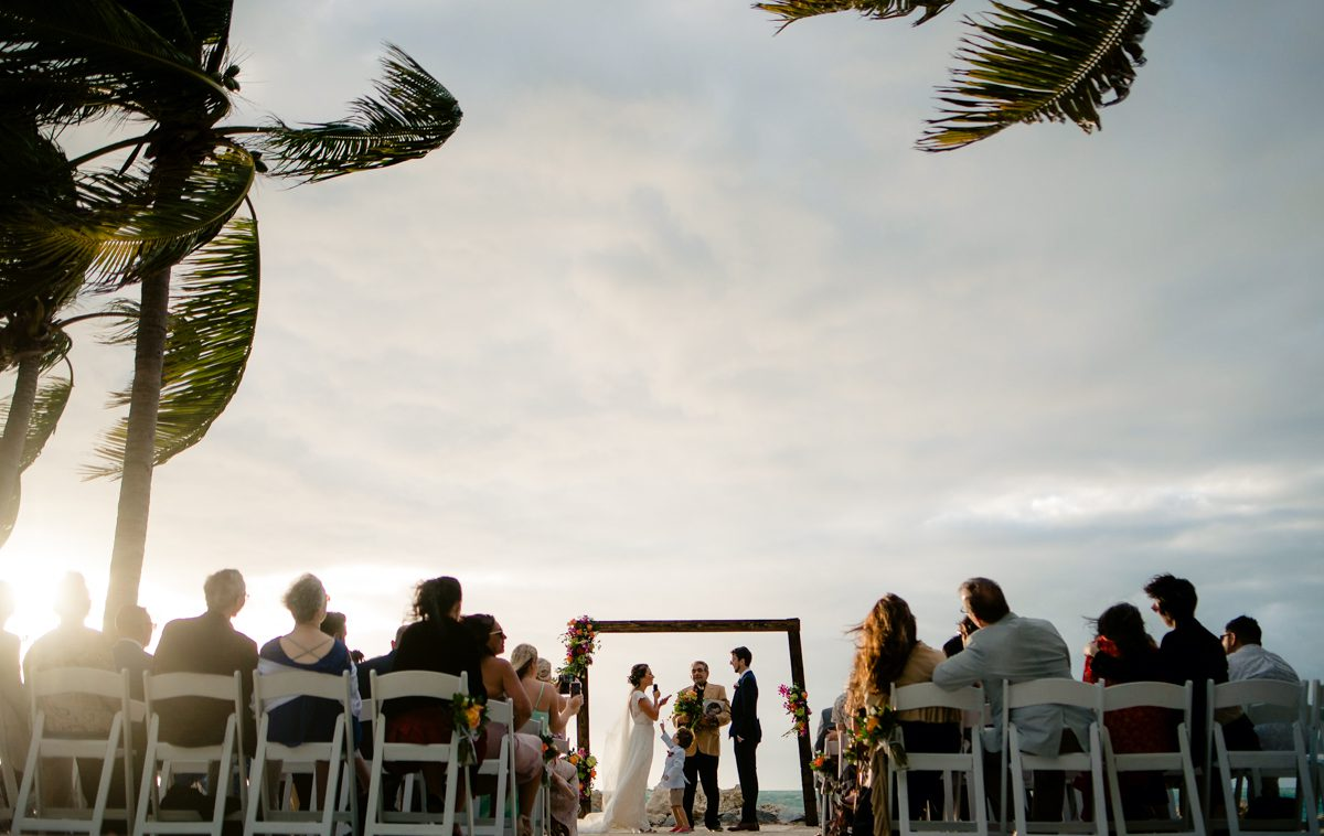Fort Zachary Taylor outdoor wedding reception in Key West, Florida.