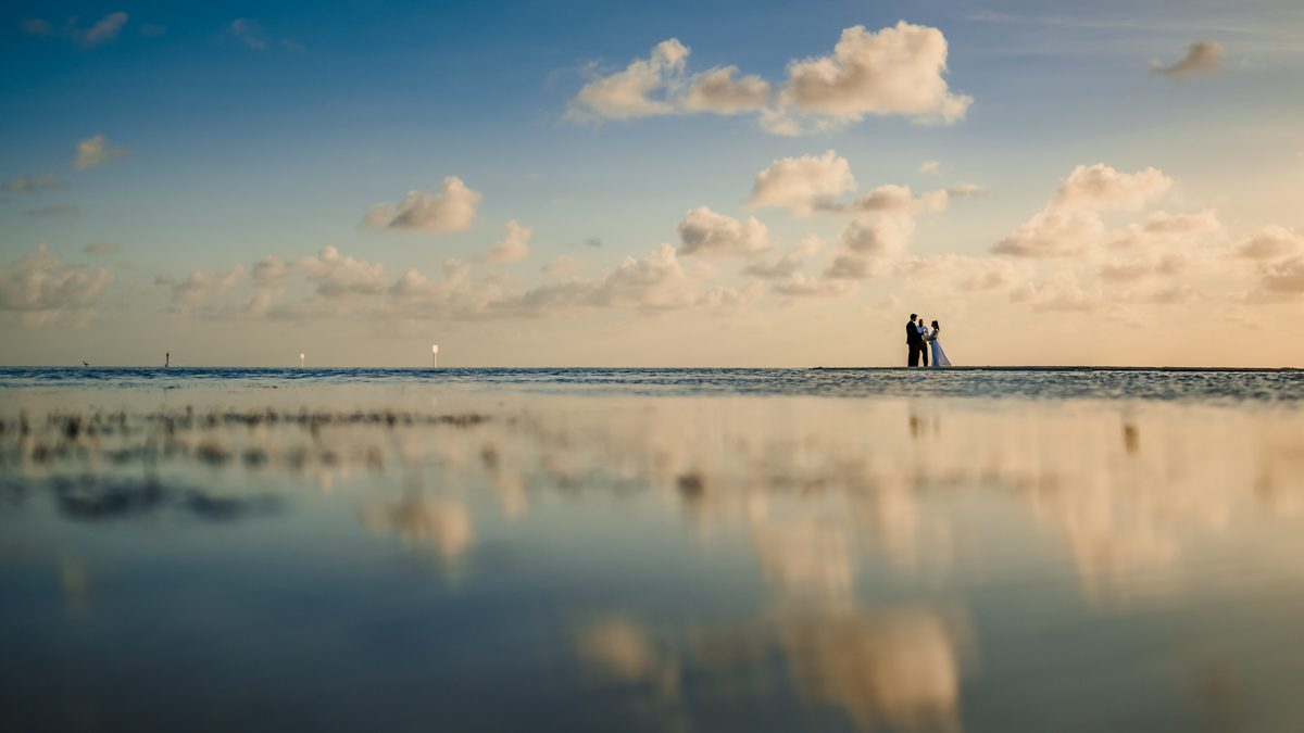 Couple On Beach In Little Palm Island, Florida Keys