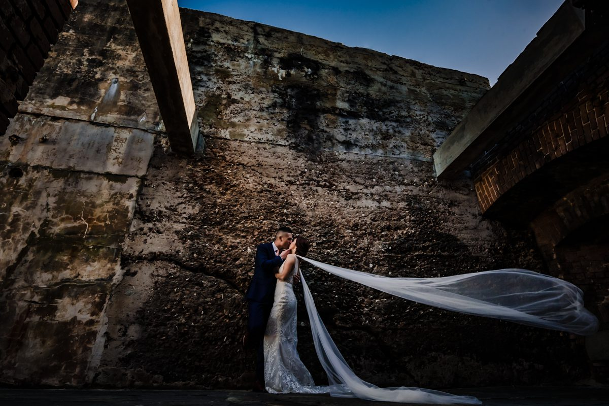 Newly Wed Couple Inside Fort Zachary In Key West