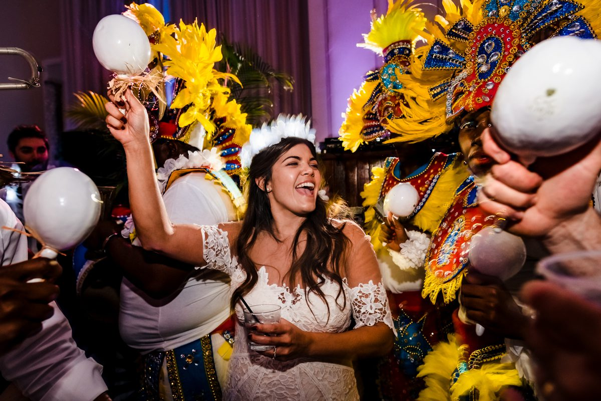 Bride Dances During Reception Ceremony