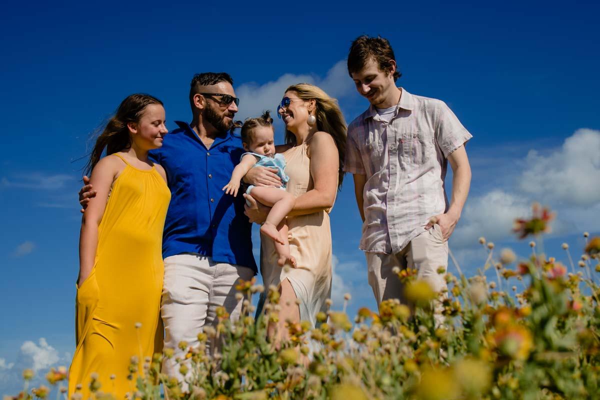 Family photo at black balsam knob