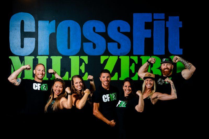 Members of a crossfit studio posing together