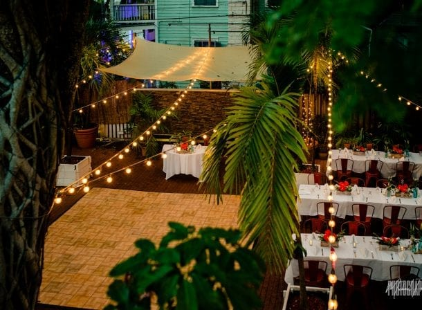 Overhead photo of first flight brewery for wedding reception