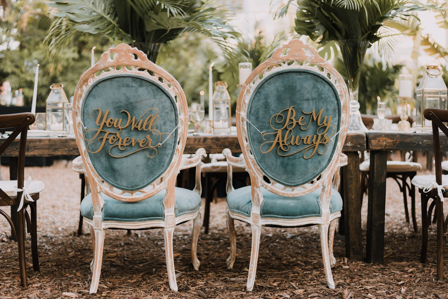 bride and groom chairs engraved