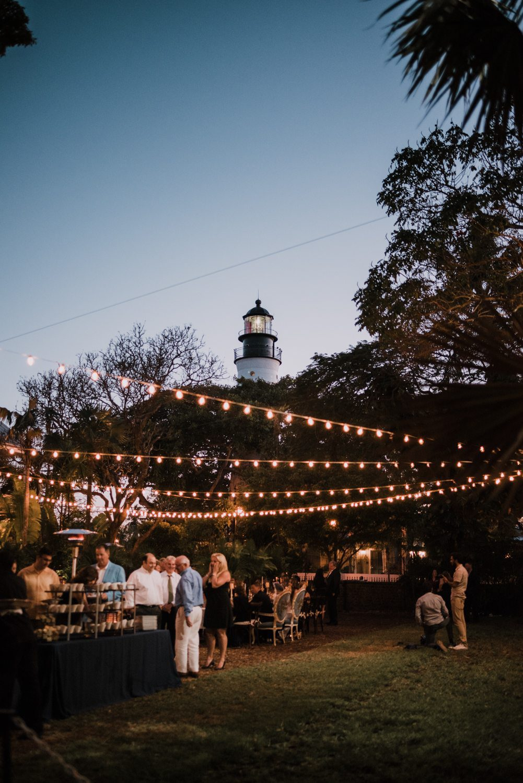 Far away shot of hemingway house wedding reception