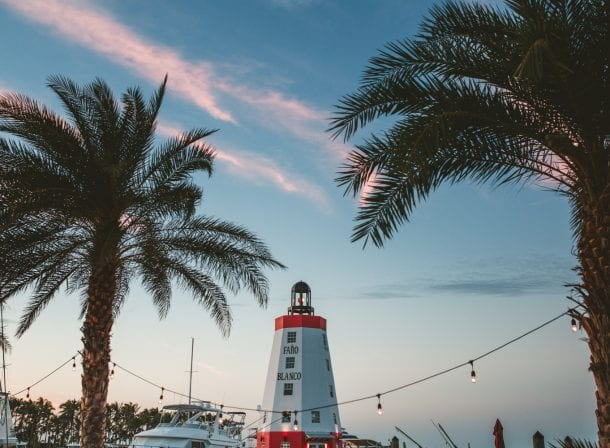 shot of the lighthouse in key west