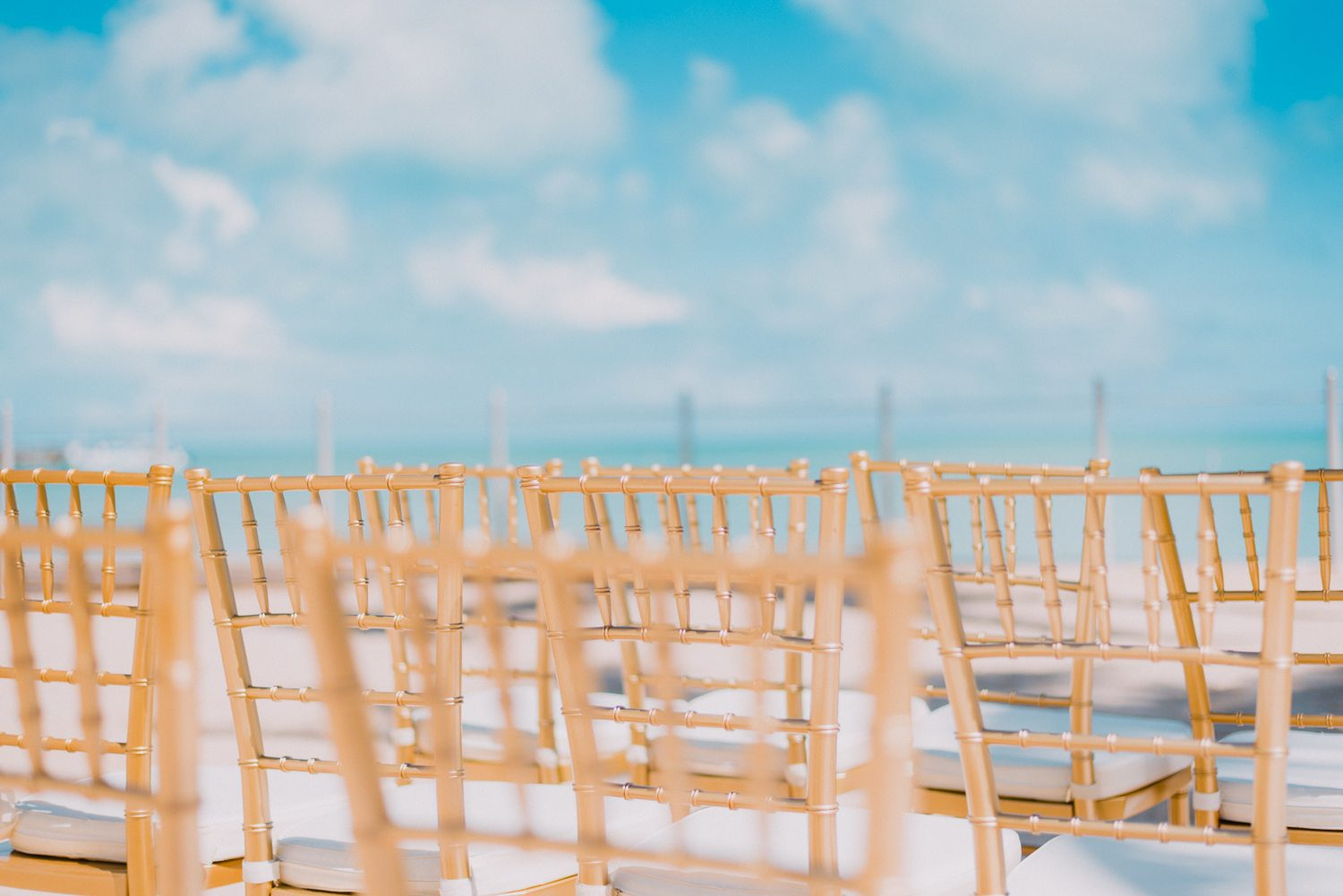 chairs set up for a beach wedding at southernmost beach resort