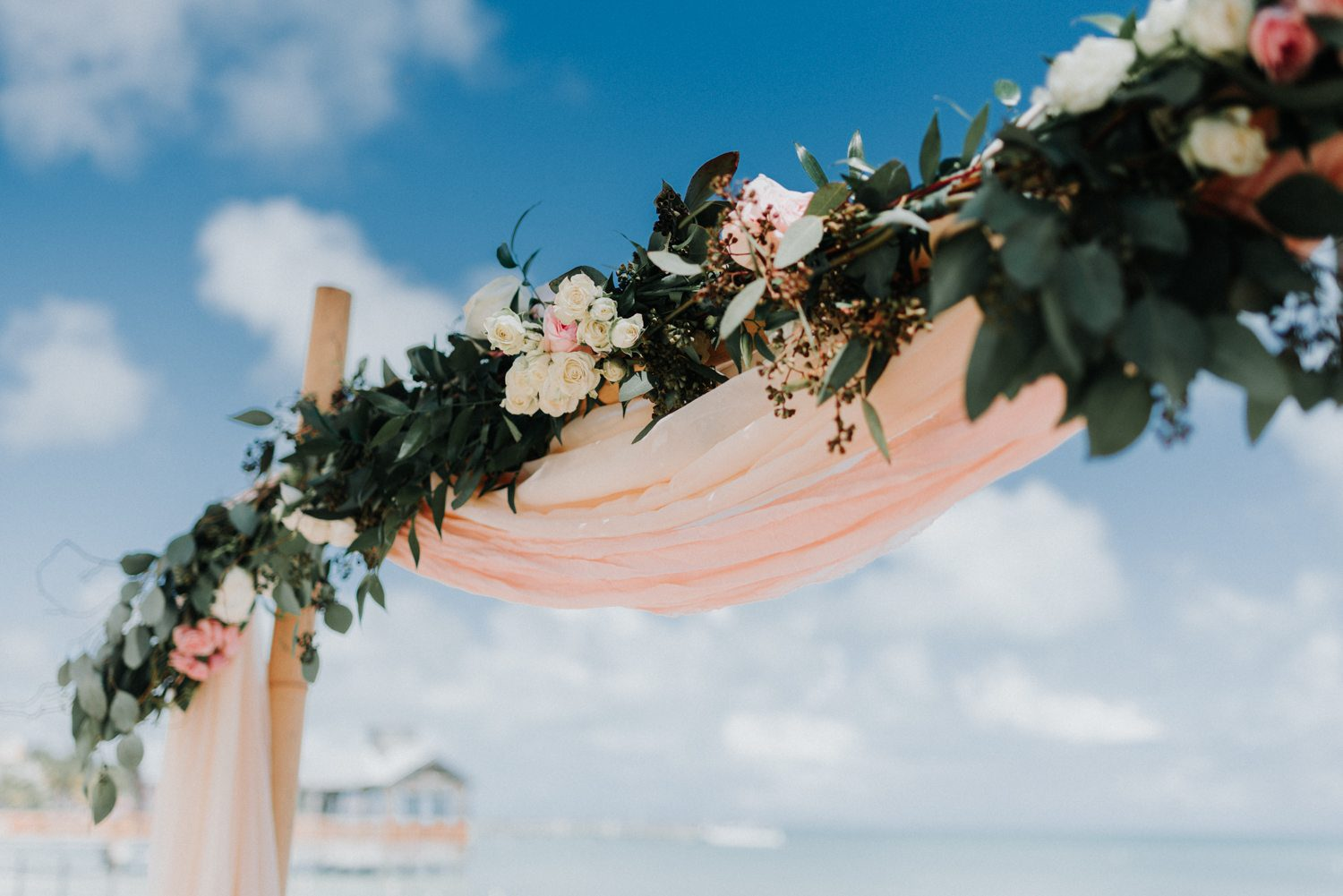 stage set up for a beach wedding at southernmost beach resort