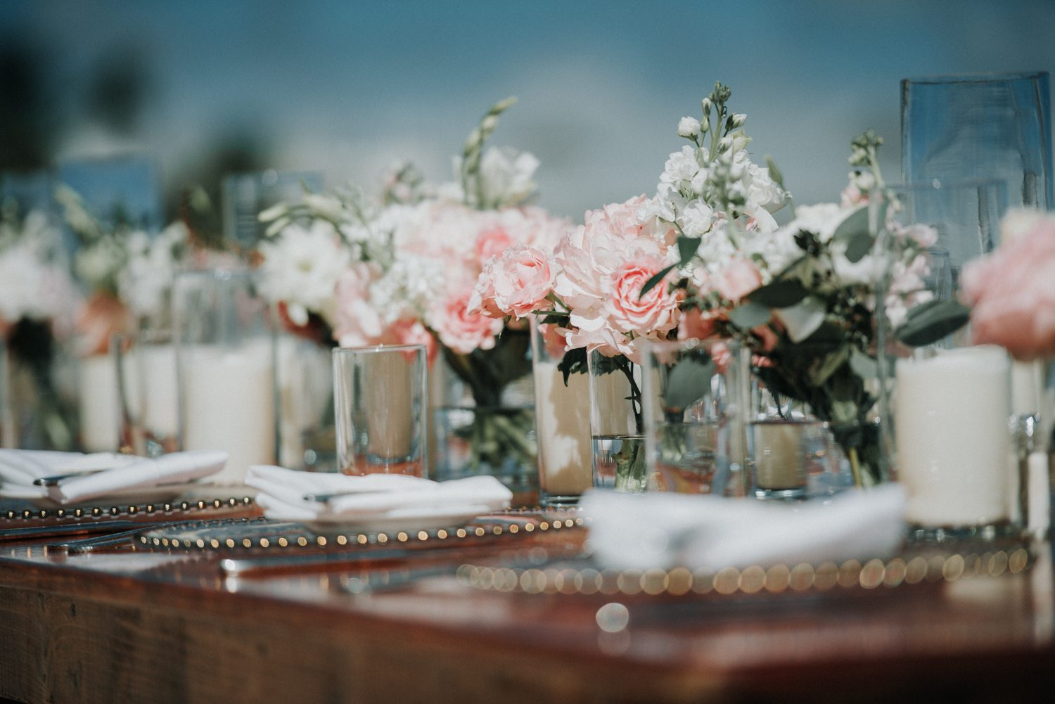 table setting for wedding at southernmost beach resort