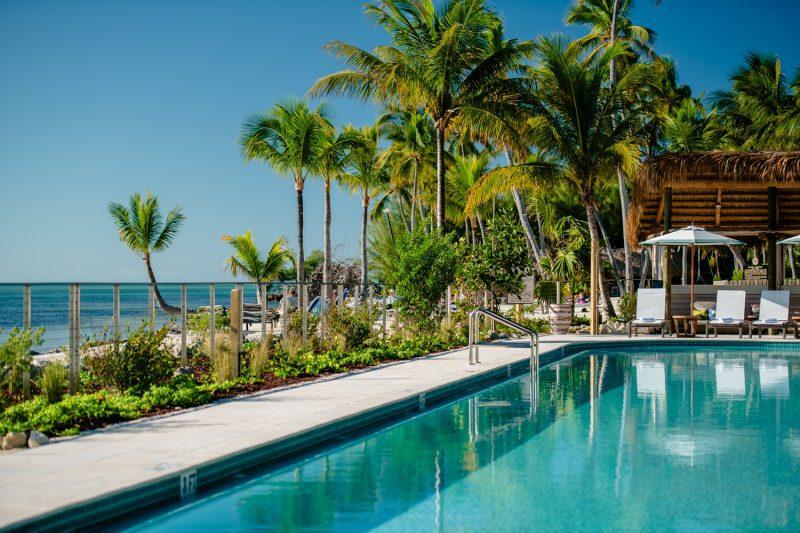 Pool at a hotel in florida keys