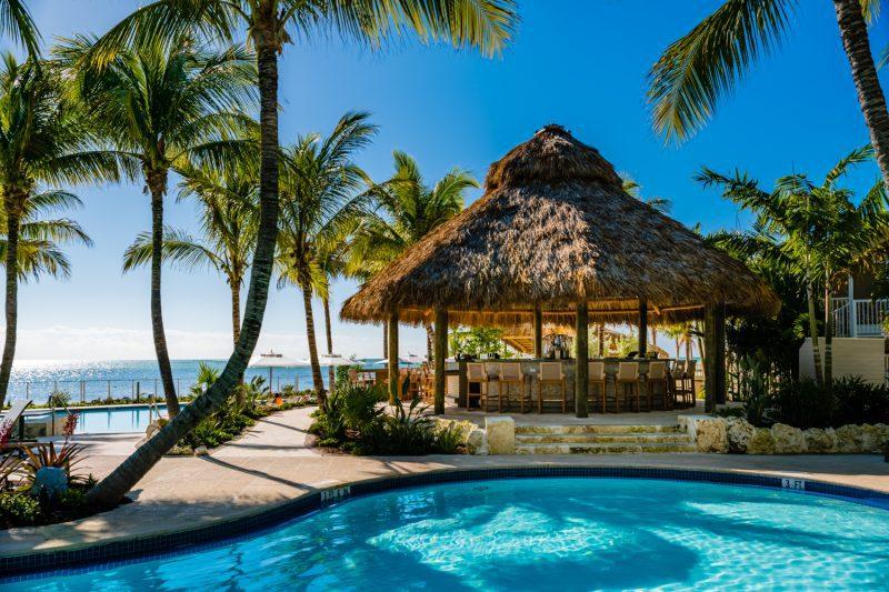 Poolside cabana at a hotel