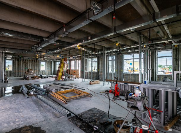 Construction site commercial photography