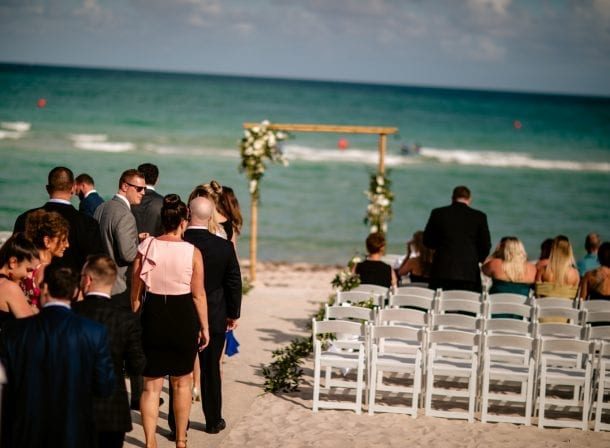 Miami beach wedding, couple