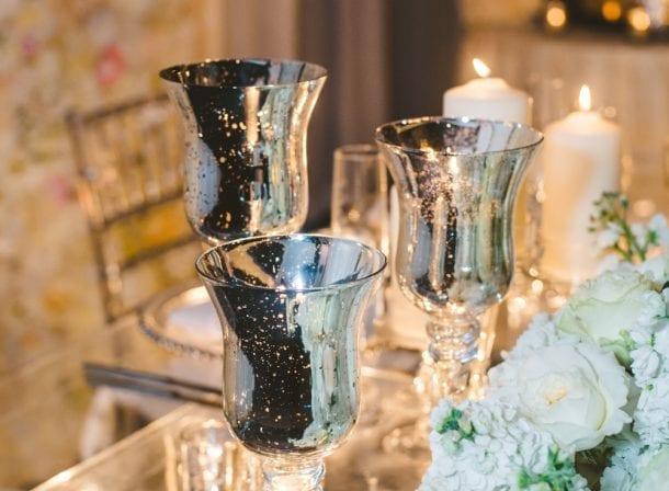 Dinnerware decorations of miami wedding
