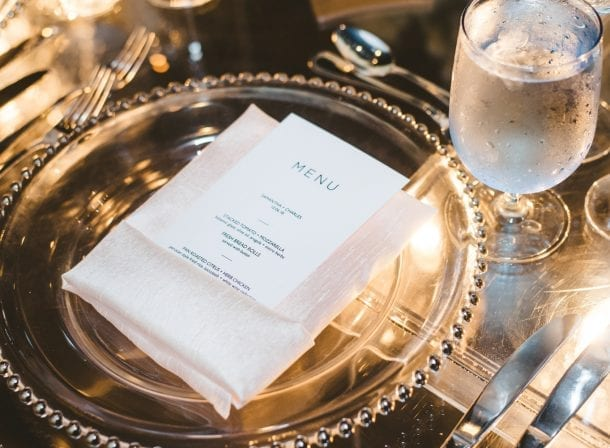 Plateware decorations of miami beach wedding