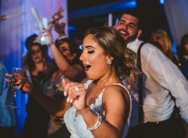 Bride dancing at her wedding reception