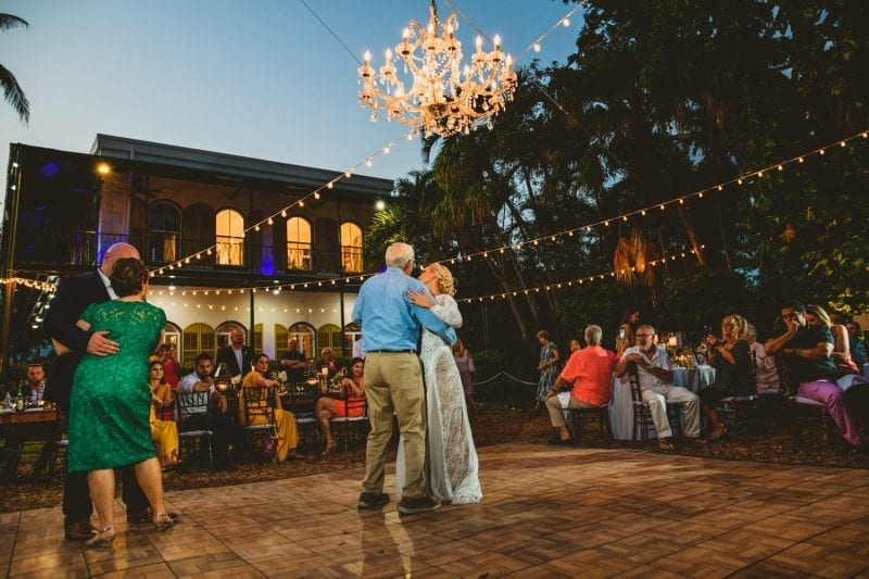 Couple dancing at a wedding celebration