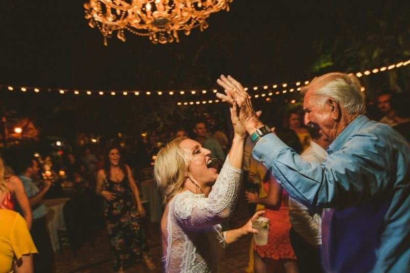 Bride dancing with her father at her wedding reception