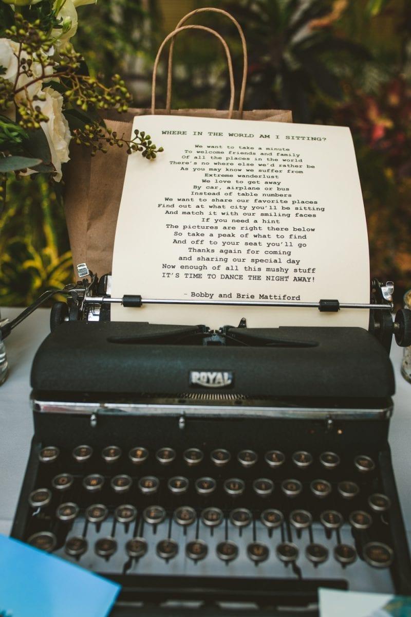 Typewriter at hemingway house in key west