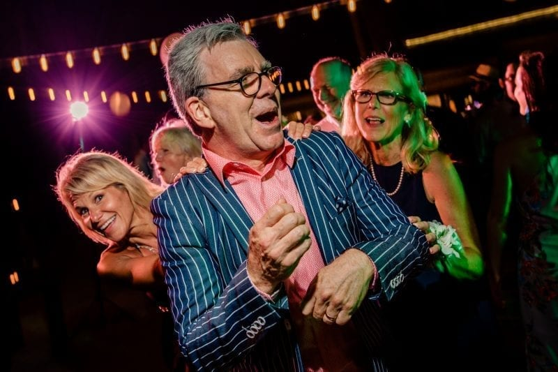 parents dancing during wedding reception at southernmost beach resort