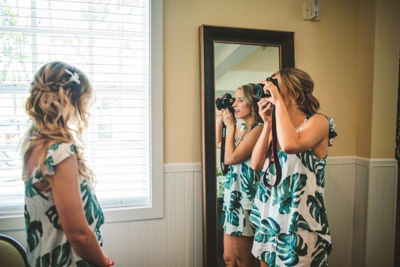 bridesmaids posing for portraits