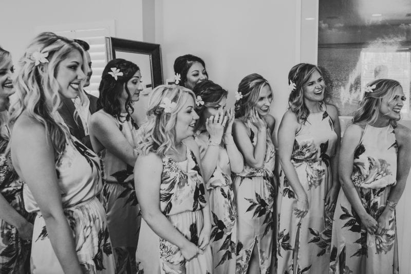 bridesmaids posing for portraits at southernmost beach resort