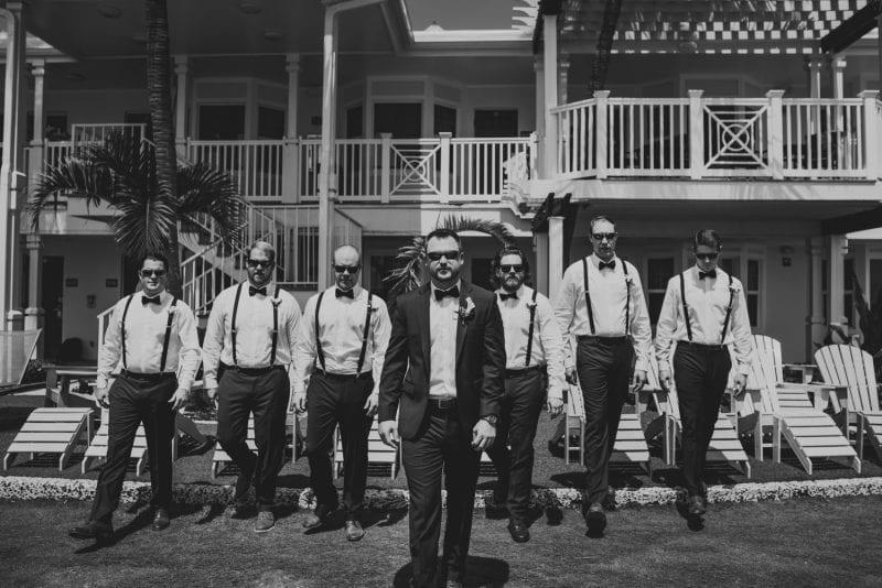 groomsmen portrait at southernmost beach resort