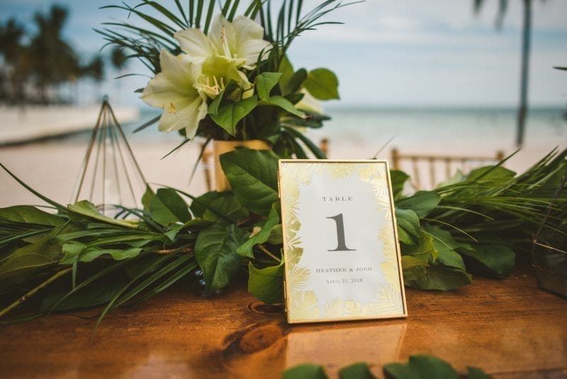 table decorations for wedding reception at southernmost beach resort