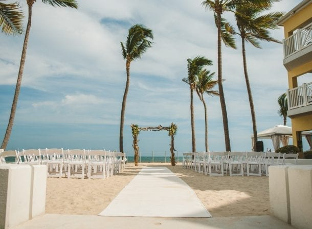 beach wedding at southernmost beach resort