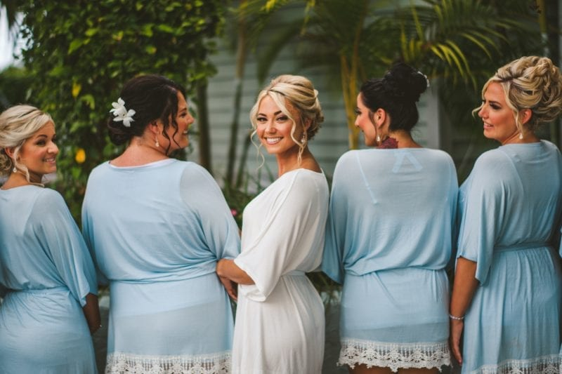 bride smiling for the camera at southernmost beach resort