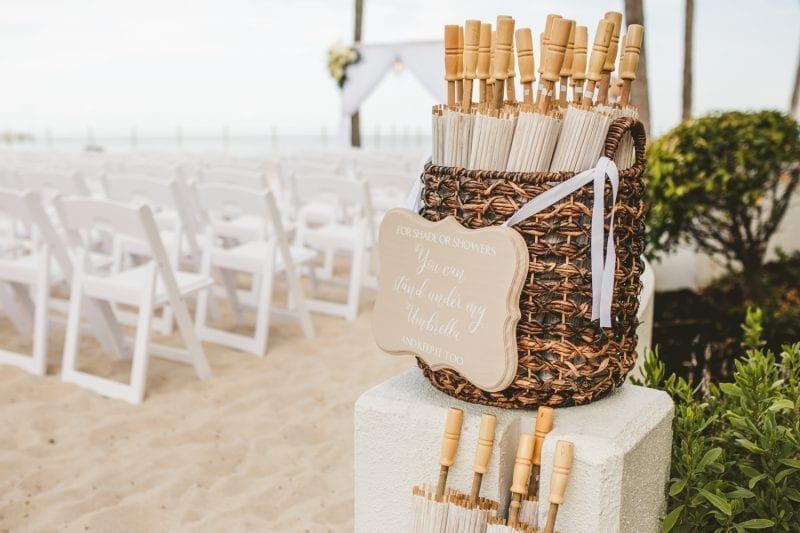 wedding recepiton on the beach at southernmost beach resort