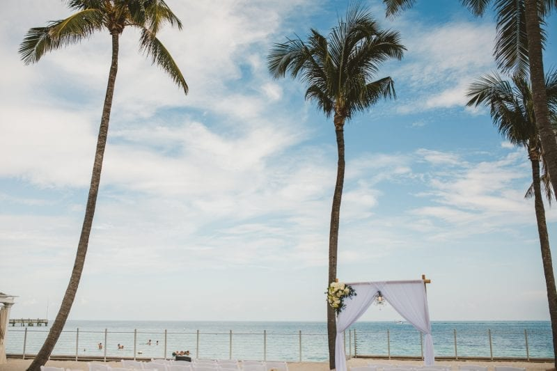 wedding stage on the beach at southernmost beach resort