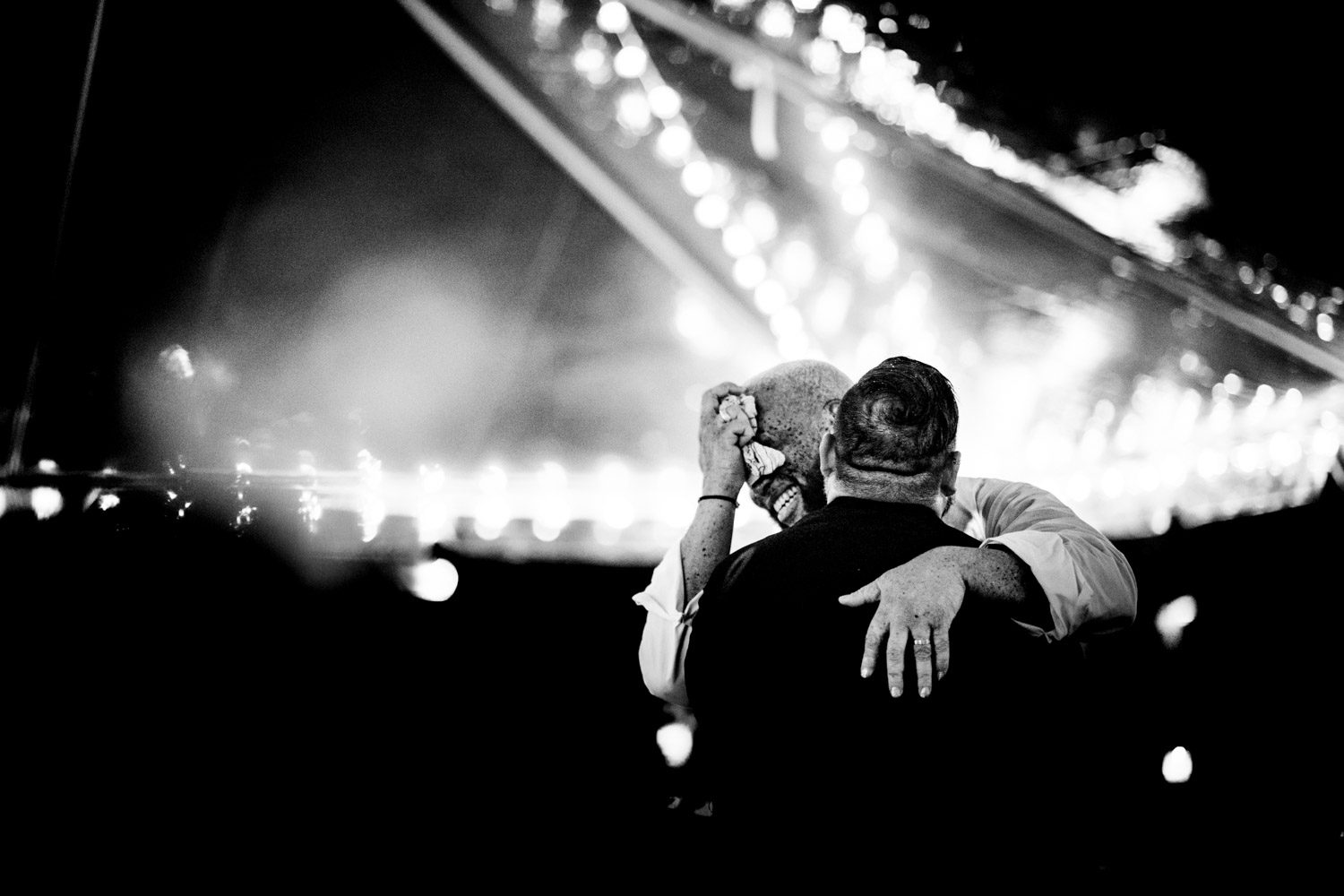 groom and groom share a first dance
