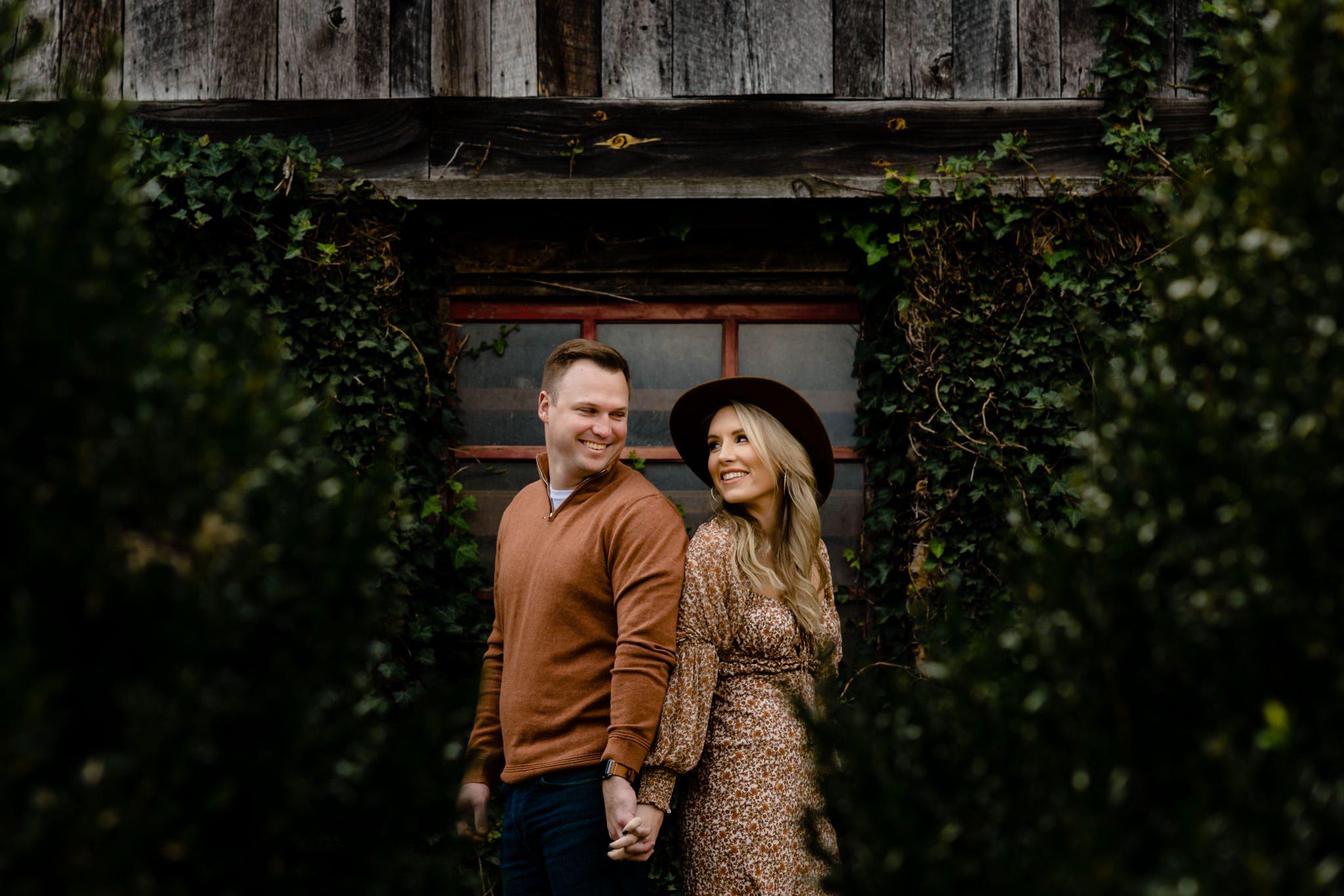 engagement photos at vineyards at Betty creek
