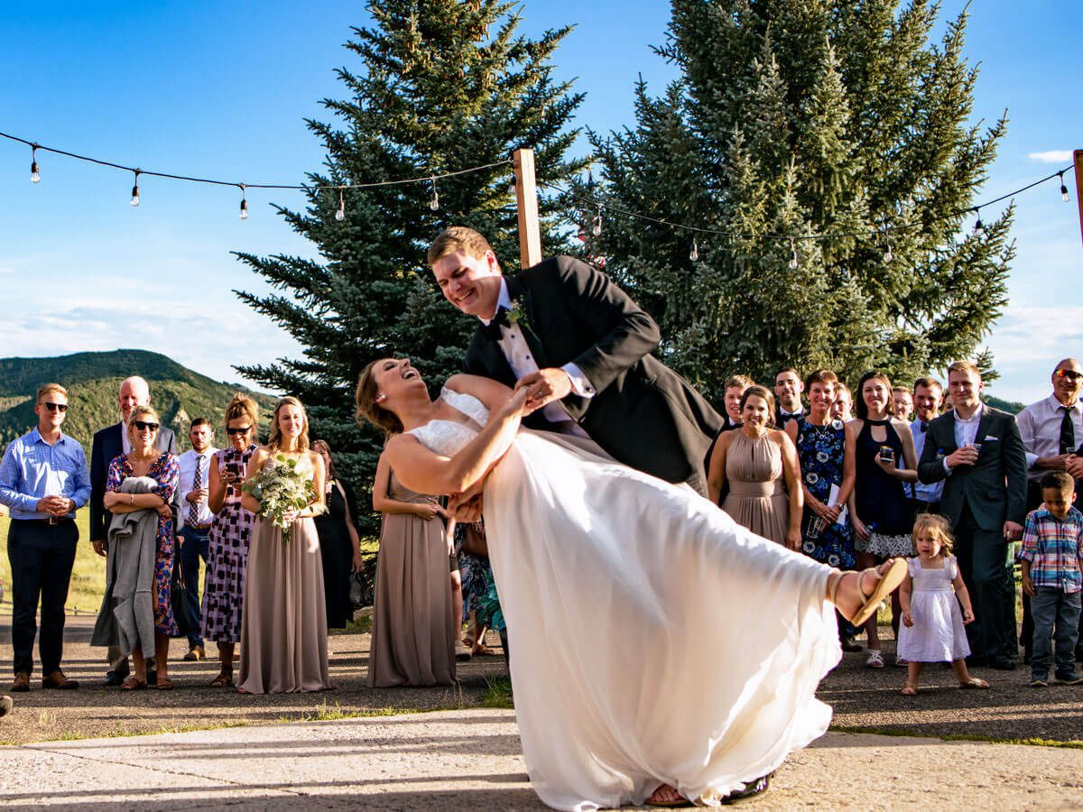 a couple dancing in their wedding event