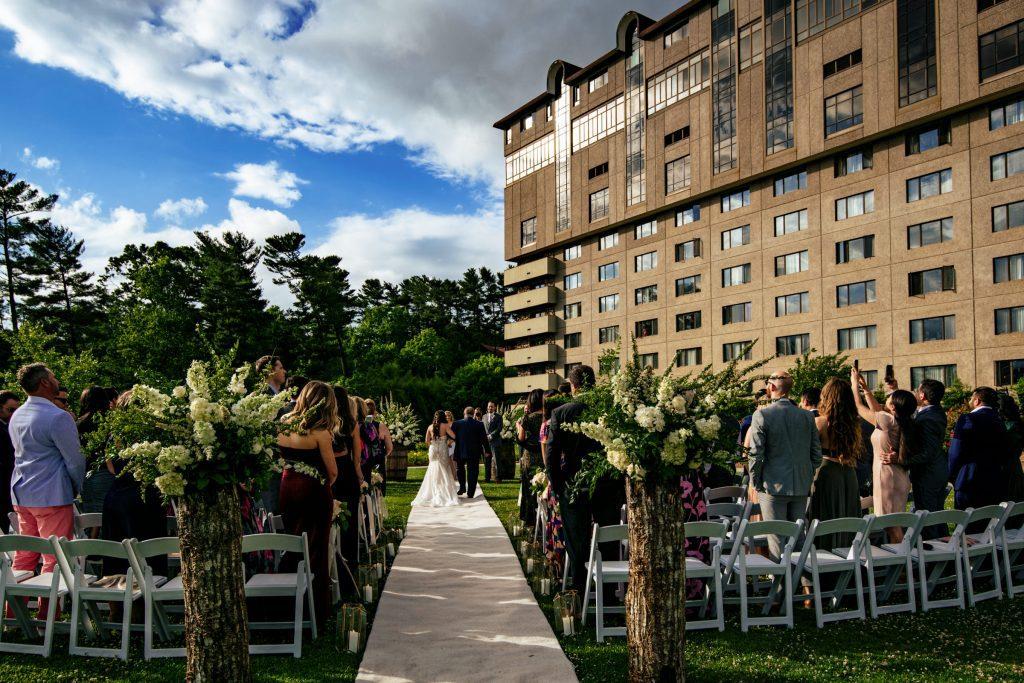 Wedding ceremony at old edwards inn Asheville, NC