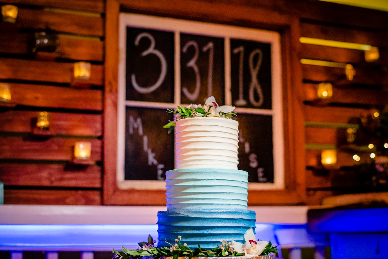 Wedding cake for reception at bagatelle in key west