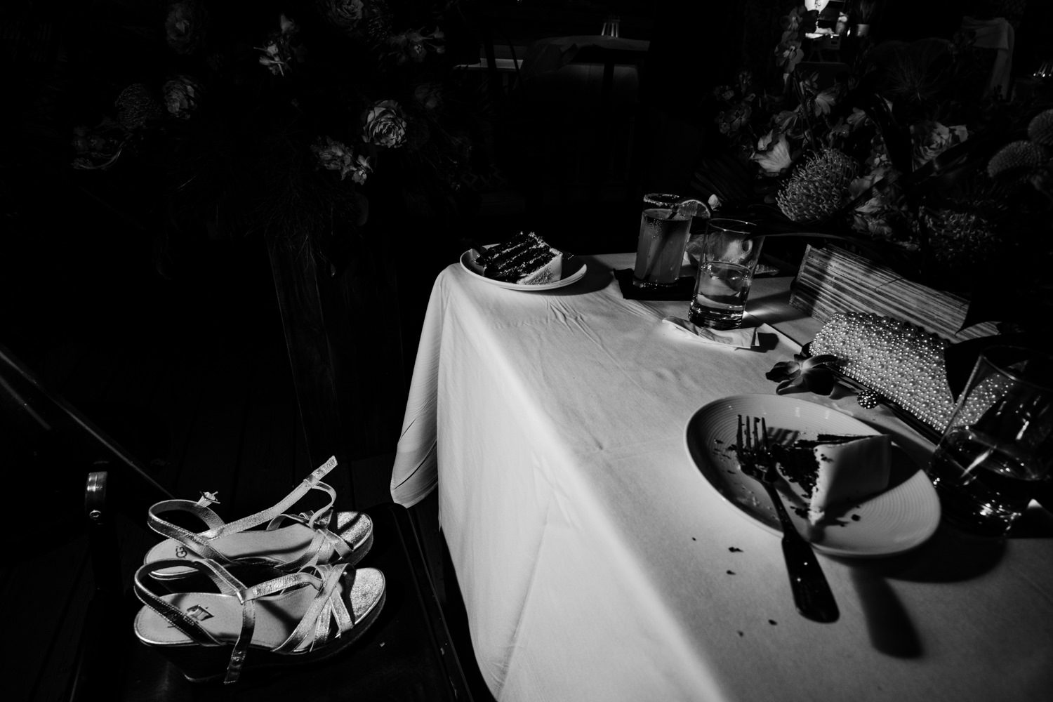 Wedding reception buffet table at bagatelle in key west