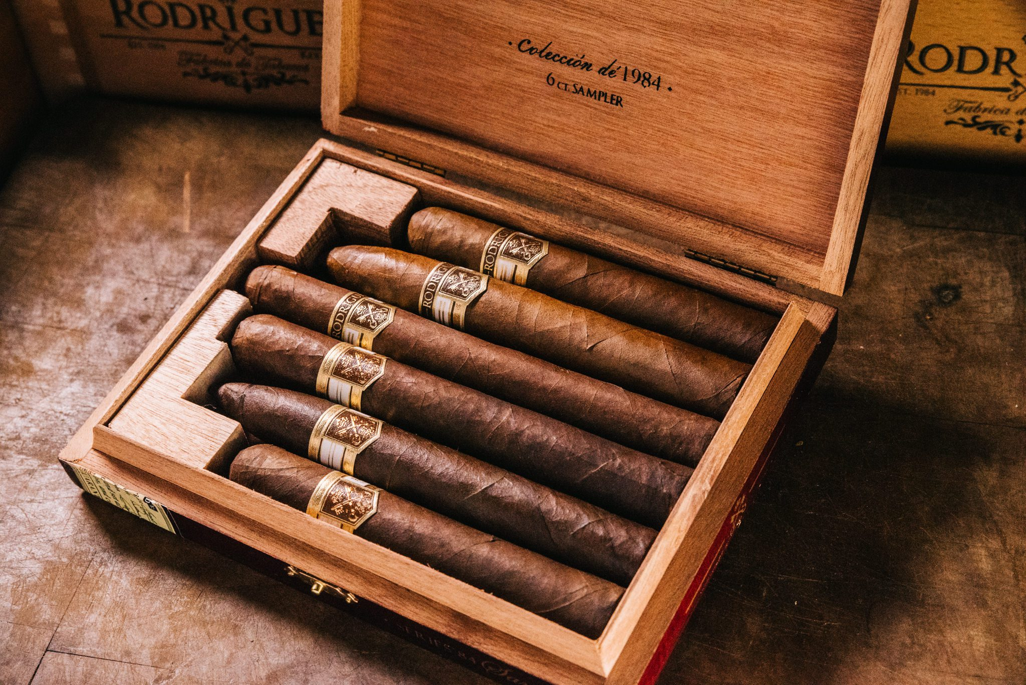 Cigars in a box for a commercial product photoshoot