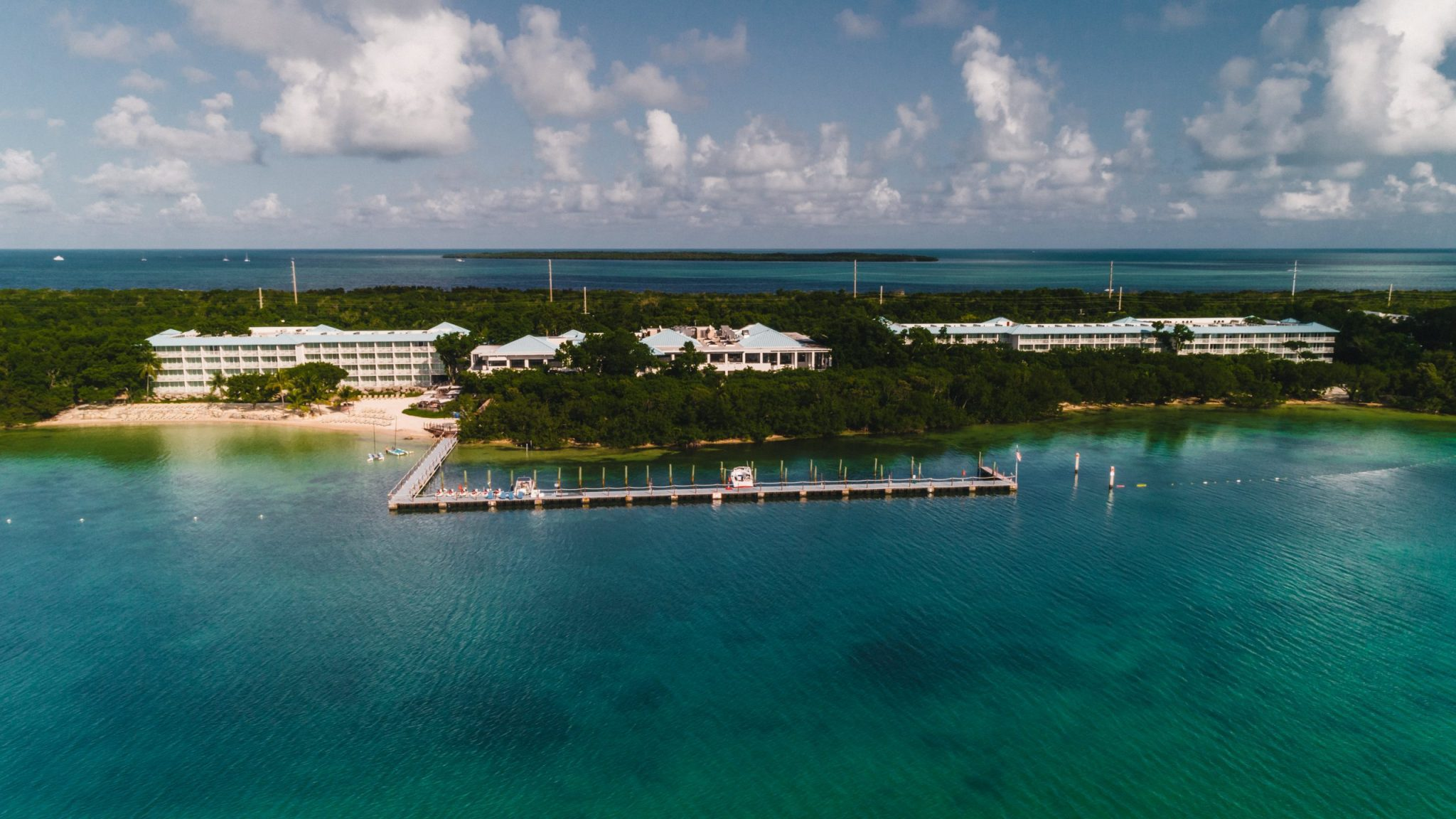 Hotel pier photography from a drone