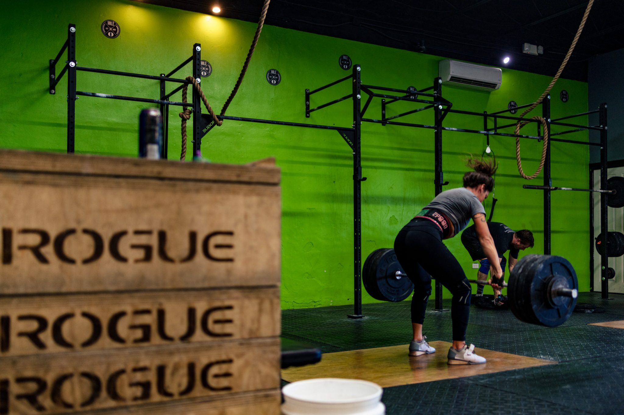 Commercial photograph of a crossfit gym