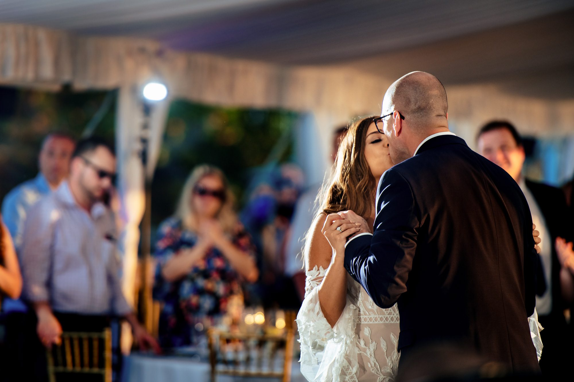 bride and grooms first dance during key west wedding